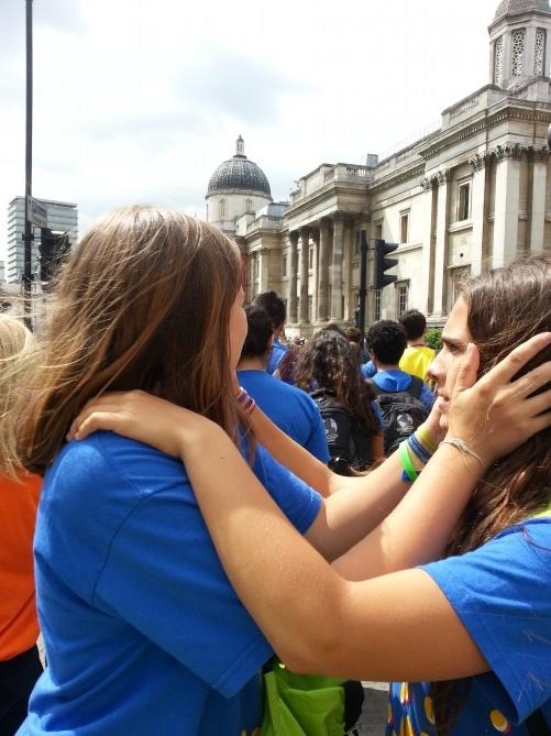 Puede ser verdad que estemos en Trafalgar Square??? :P