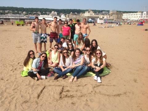 Los alumnos de tec en Weston Bay