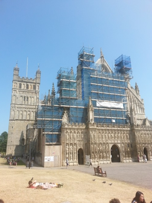 catedral de exeter restauracion