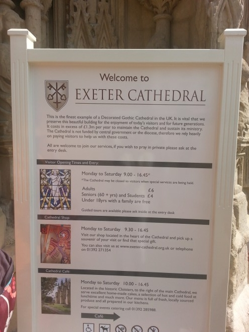 welcome to exeter cathedral