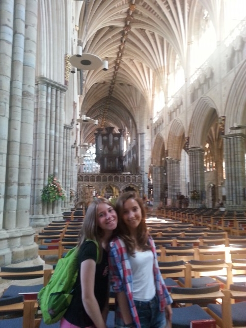 interior de la catedral de Exeter