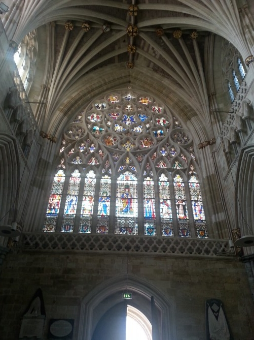 vidriera catedral de Exeter