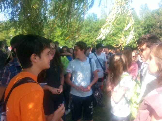 grupo en parque totnes