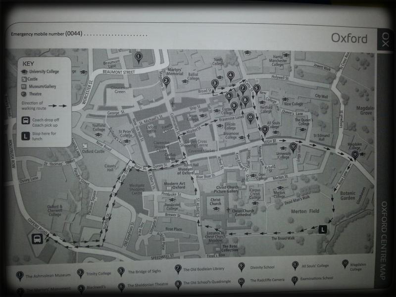 Plano de la excursión a Oxford