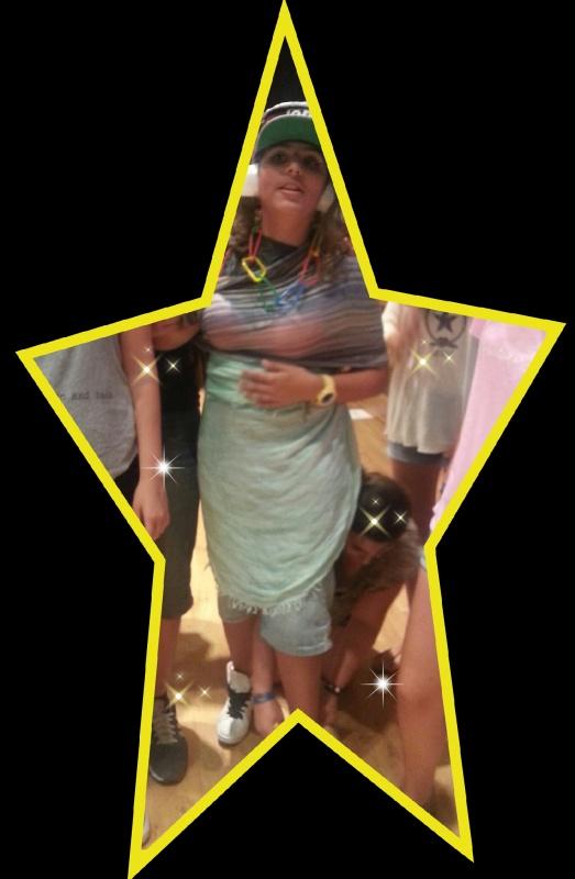 Resultado final...ha nacido una estrella de la moda...fashion rocks!!