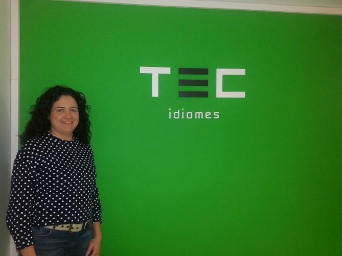 Presentación de Sara Llop en las redes sociales de Tec idiomes