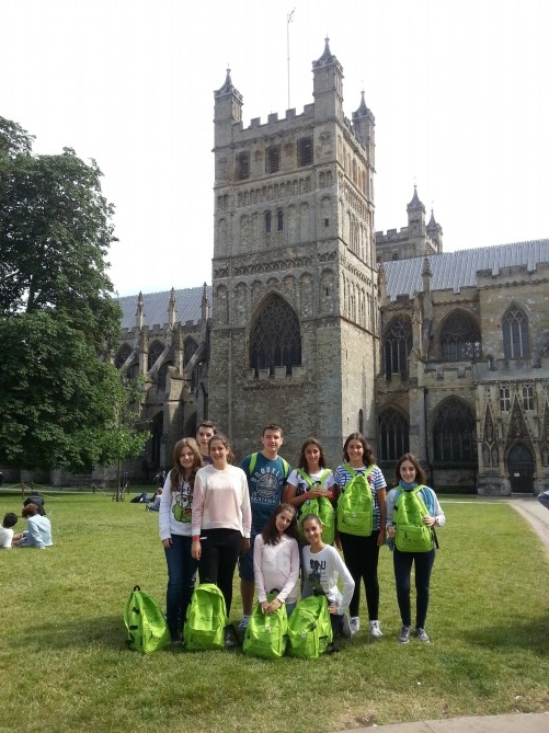 El grupo en la Catedral de Exeter