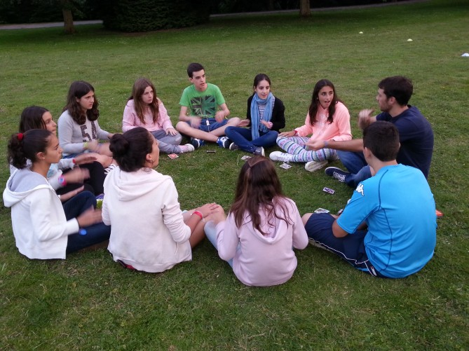 Alumnos de TEC Idiomes durante las actividades