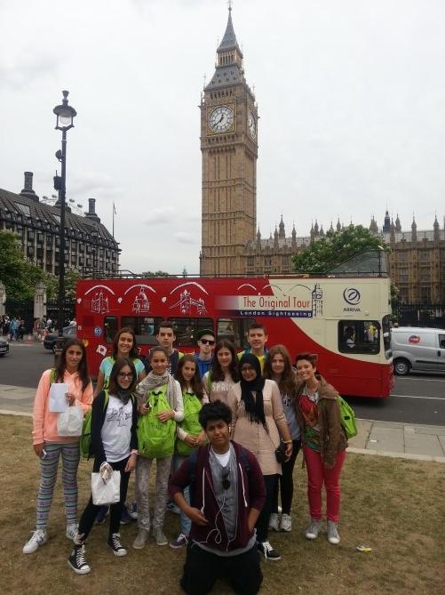 El grupo de TEC Idiomes en su visita a Londres
