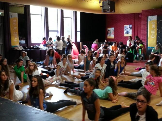 El grupo que eligió la actividad de Yoga