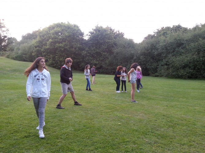 Alumnos jugando a Zagamore