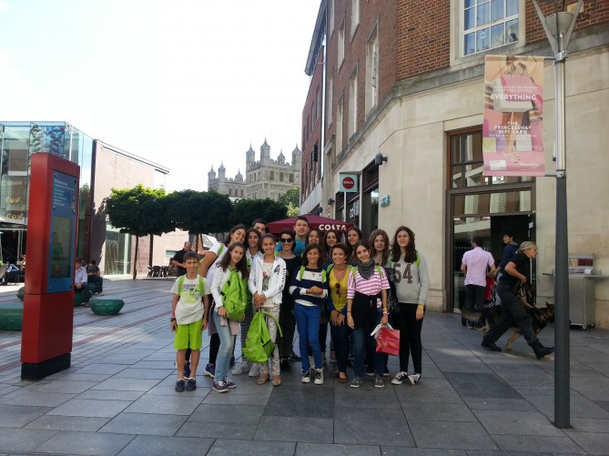 El grupo de Exeter con el de Teignmouth