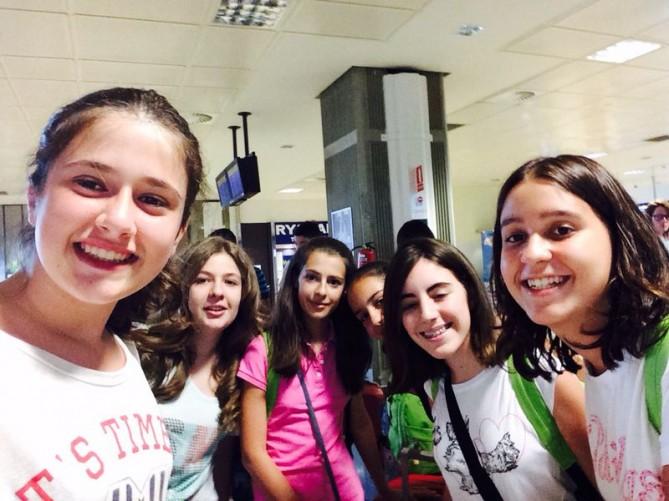 En el aeropuerto de Valencia esperando a facturar