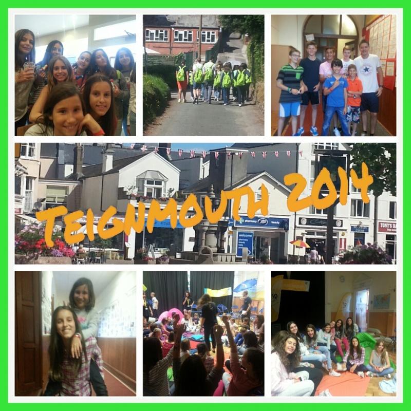 Nuestros/as alumnas en la primera semana de inmersión lingüística en Teignmouth