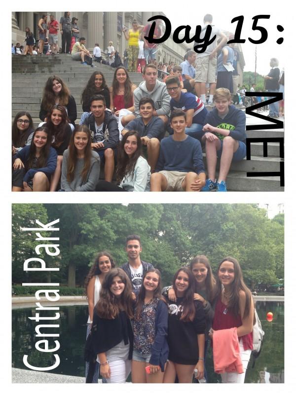 Visita de los chicos y chicas de TEC Idiomes en NY al MET y a Central Park.